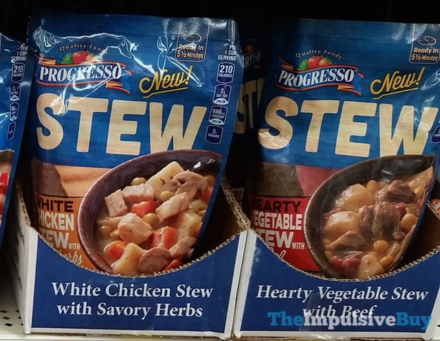 Progresso Stew Pouches (White Chicken with Savory Herbs and Hearty Vegetable Stew with Beef)