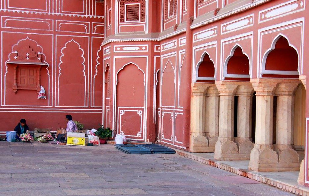 the courtyard of city palace jaipur