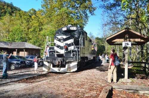 Great Smokey Mountains Railroad through Nantahala Gorge