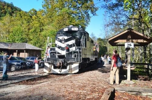 Great Smokey Mountains Railroad through Nantahala Gorge