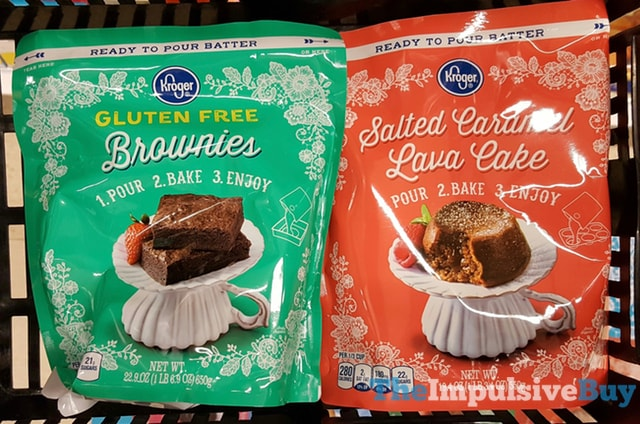 Kroger Ready to Pour Batter (Gluten Free Brownies and Salted Caramel Lava Cake)