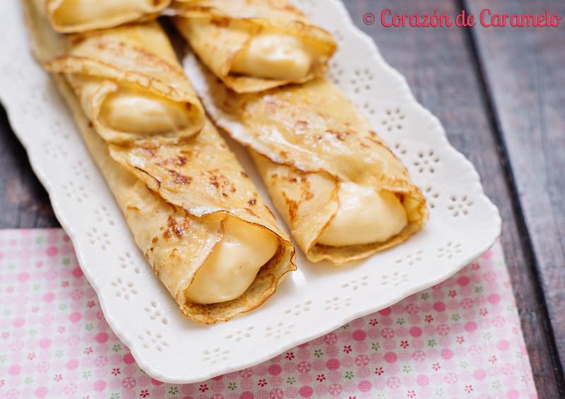 Crepes con Crema Pastelera