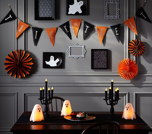 Trick or Treat Garland and Ghost Candles