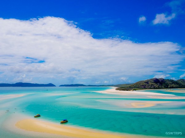 Betty's Beach from Hill Inlet, Whitsundays