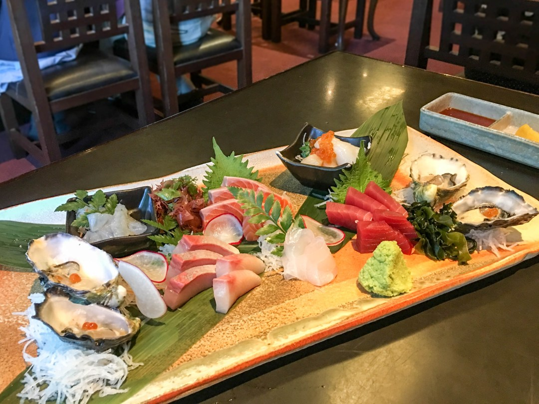 Premium sashimi selection