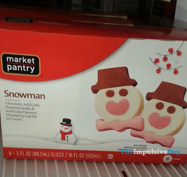Market Pantry Snowman Ice Cream