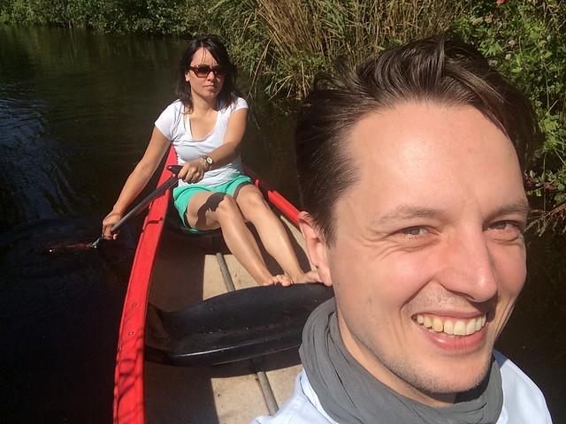 Canoeing at Nieuwkoopse Plassen, Noorden