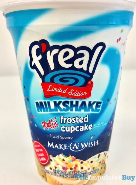 F'real Limited Edition Raffi's Frosted Cupcake Milkshake