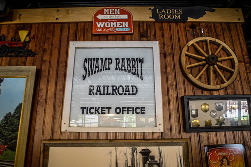 Swamp Rabbit Ticket Office Sign