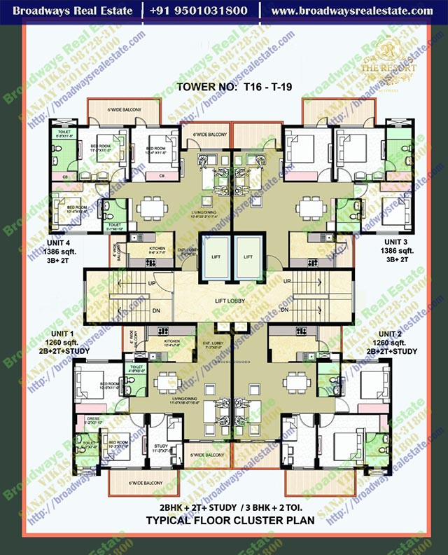omaxe the resort floor plan