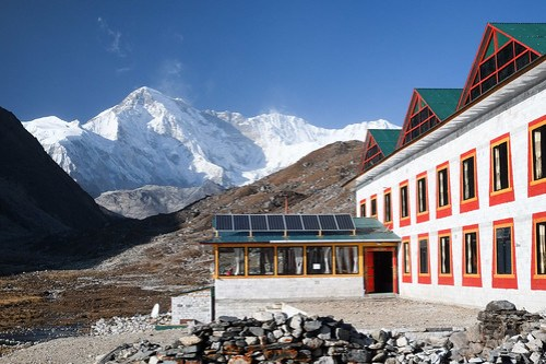 From our window at Cho Oyu View Lodge.