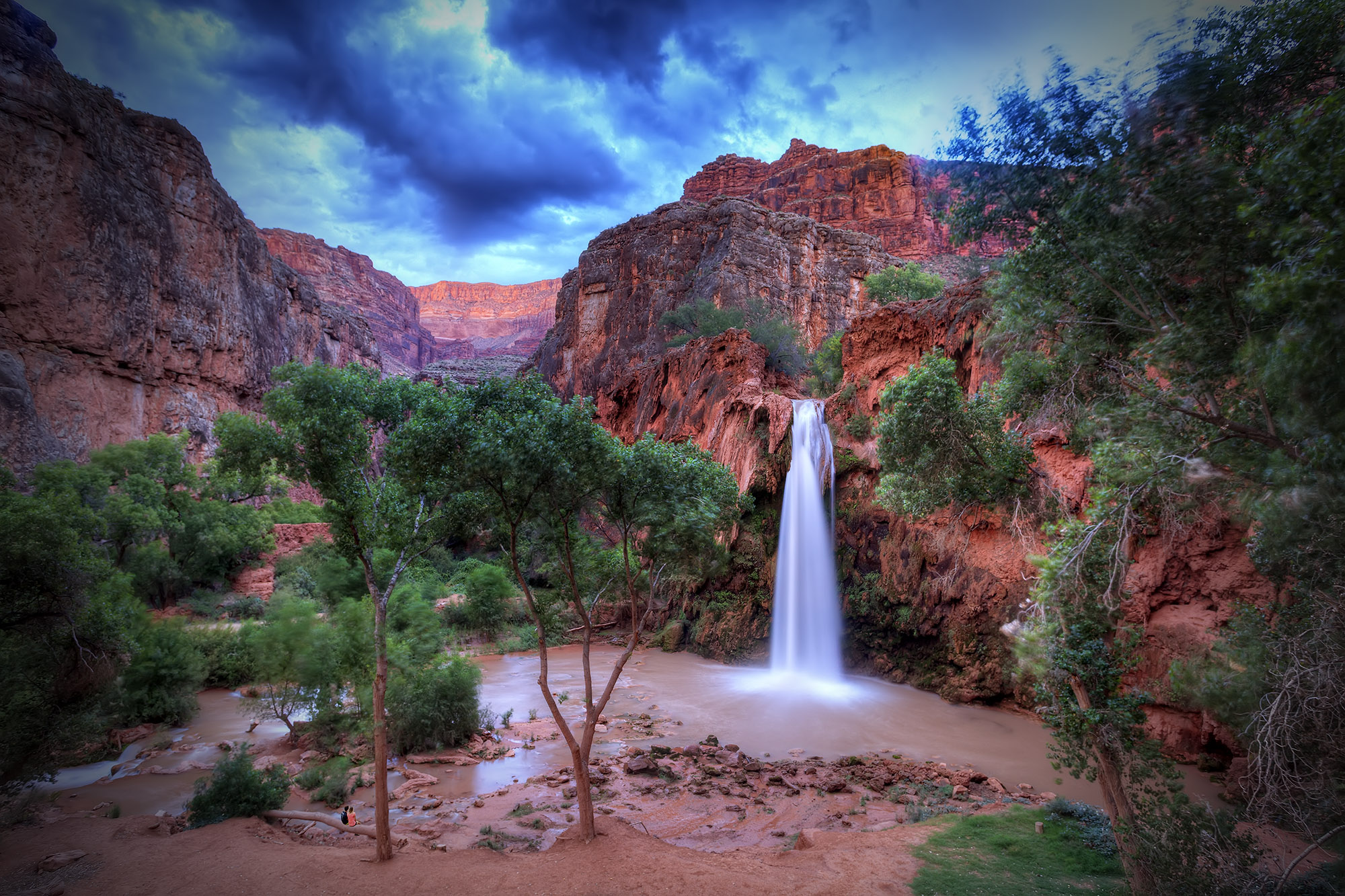 Havasu Falls Arizona Wallpaper Havasu Falls Trail Supai Az Usa Sunrise Sunset Times