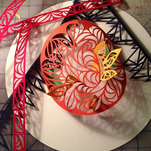 Work in Progress: paper cut pieces