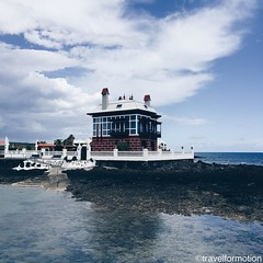 The #blue #house #lanzarote #landscape #españa #vsco #vscocam #wanderlust #travel #travelgram #ocean #water #clouds #guardiantravelsnaps