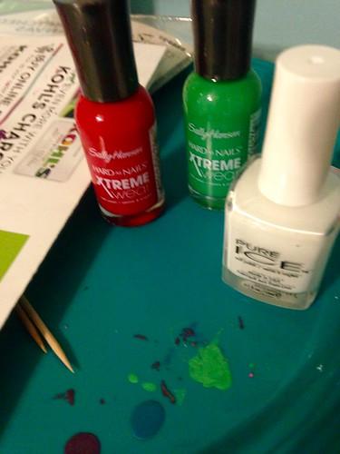 My Christmas polishes