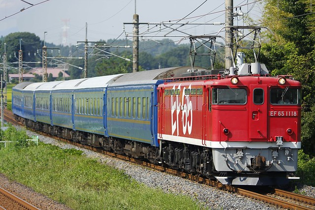 EF65-1118+Sleeping Car Series24 Training train