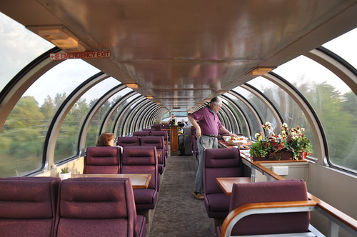 Milwaukee Road, 68 Seat Dome, 28 Seat Lounge, Super Dome 53 - Dome View