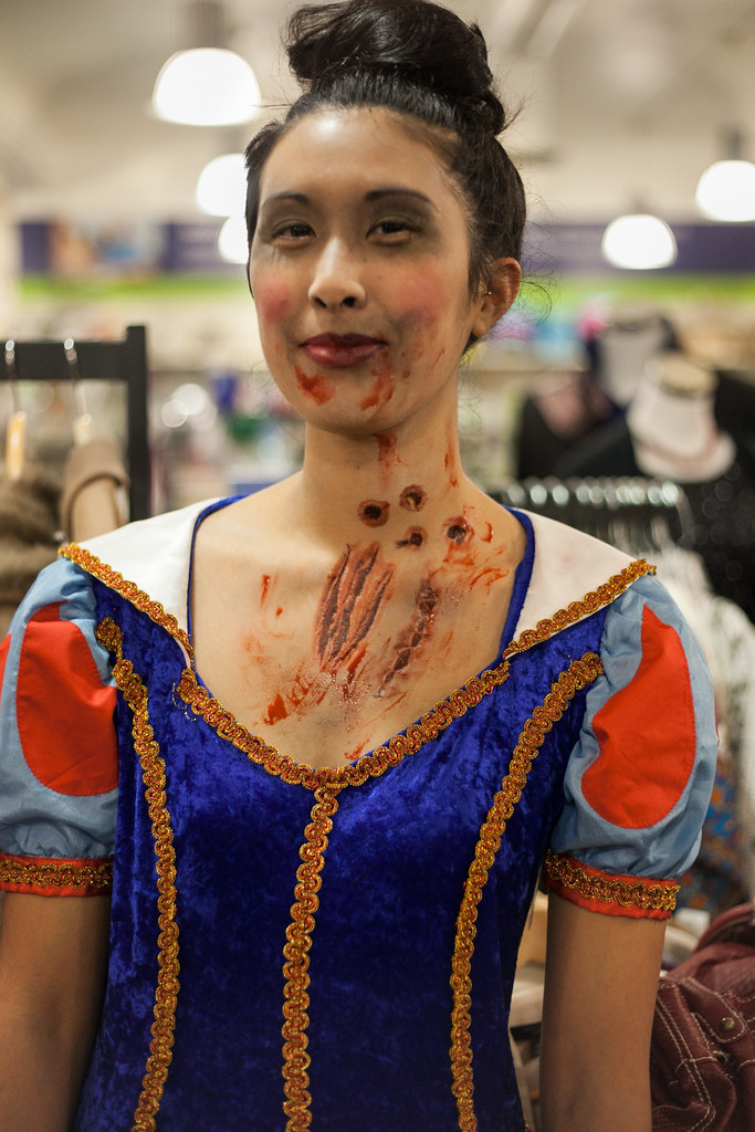 zombie snow white makeup