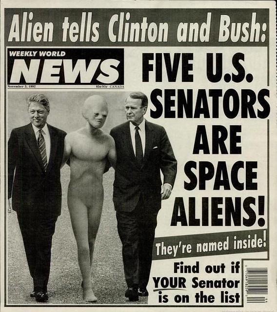 Five U S Senators Are Space Aliens