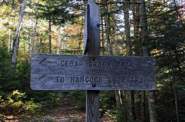 Hancock Loop Trail Sign