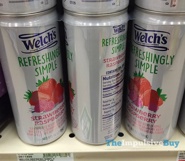 Welch's Refreshingly Simple Strawberry Raspberry