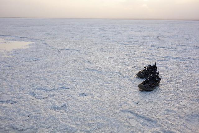 アフリカの塩湖