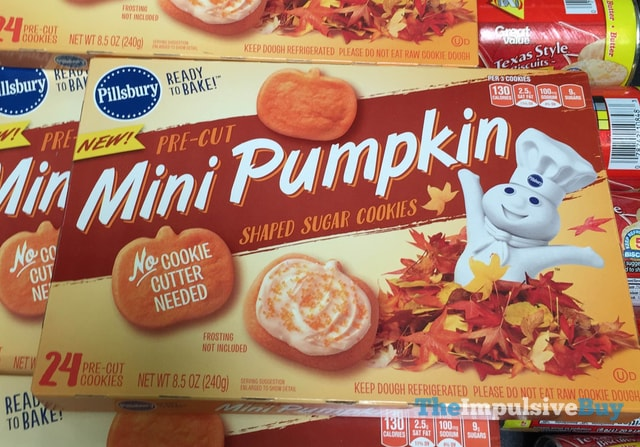Pillsbury Pre-Cut Mini Pumpkin Shaped Sugar Cookies