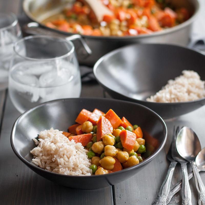 20 minute veggie curry