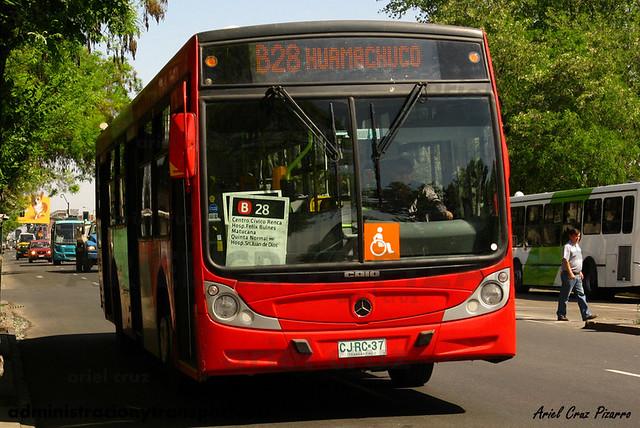 Transantiago - Buses Gran Santiago - Caio Mondego H / Mercedes Benz (CJRC37)