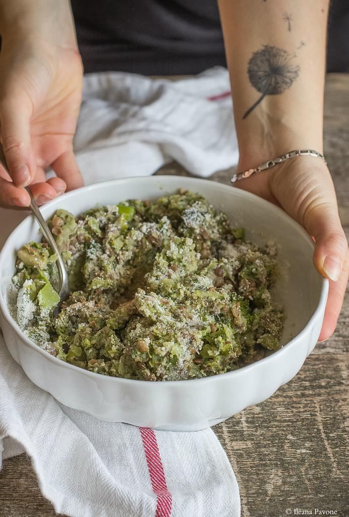 Polpette di broccoli e lenticchie