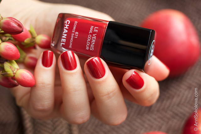 01 Chanel 671 Ecorce Sanguine swatches by Ann Sokolova
