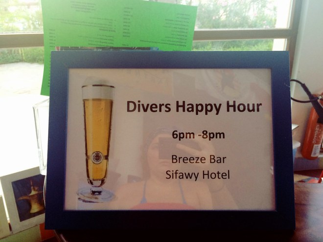 Divers Happy Hour @ Breeze Bar/Sifawy Boutique Hotel
