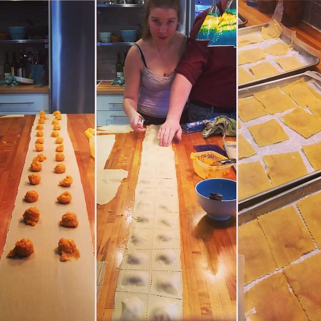 Pumpkin ravioli was made and eaten! #latergram