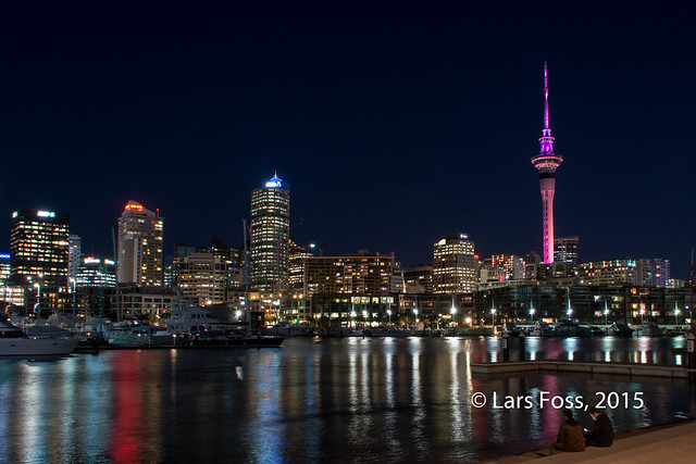 Downtown Auckland by night