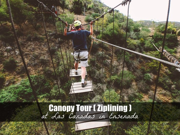Ziplining in Ensenada at Las Canadas (Canopy Tour) | Perogy and Panda