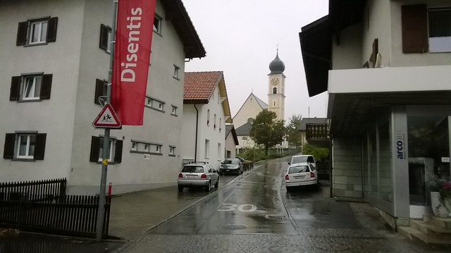 Disentis town Switzerland