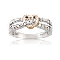 Sterling Silver 1/5ct TDW Diamond Heart Promise Ring | eBay