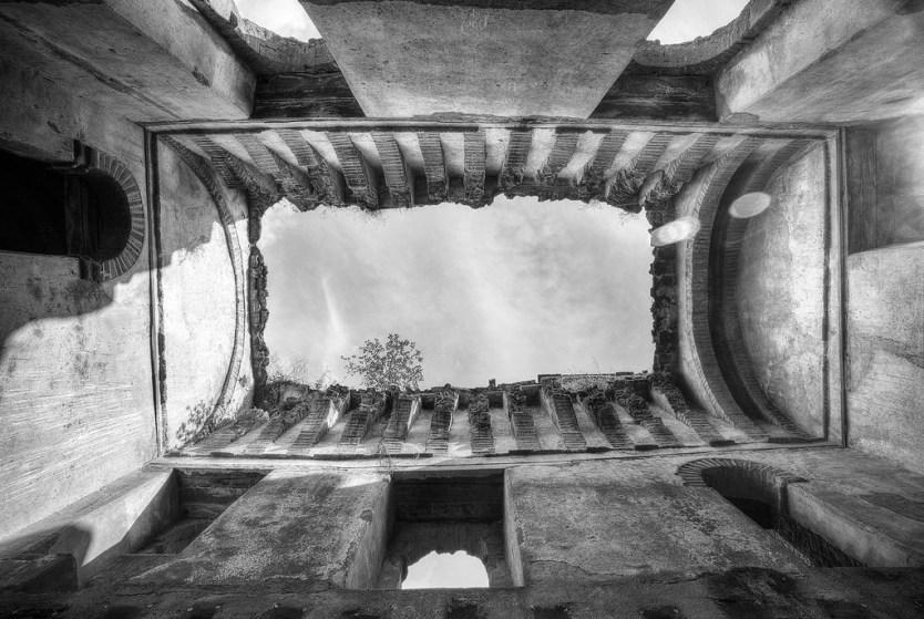 Inside the remains of the Palace of Iyasu I.