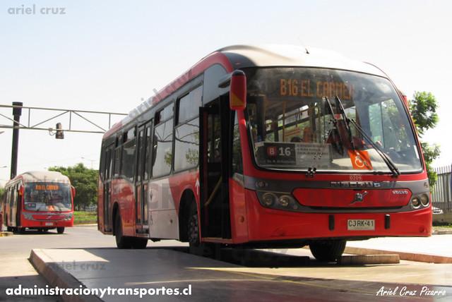 Transantiago - Redbus Urbano - Neobus Mega BRT / Volvo (CJRK41 - CJRK42)