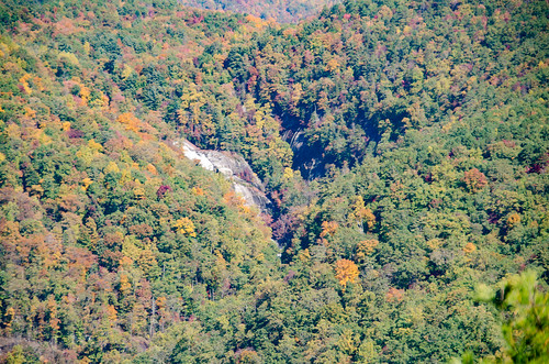 Lower Whitewater Falls from Bad Creek Overlook