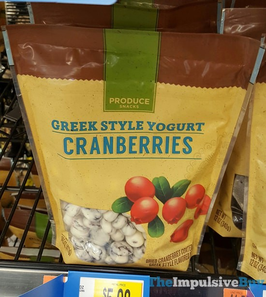 Produce Snacks Greek Style Yogurt Cranberries