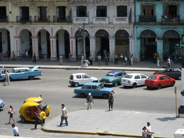 Cuba with kids: funky cars in Havana city centre