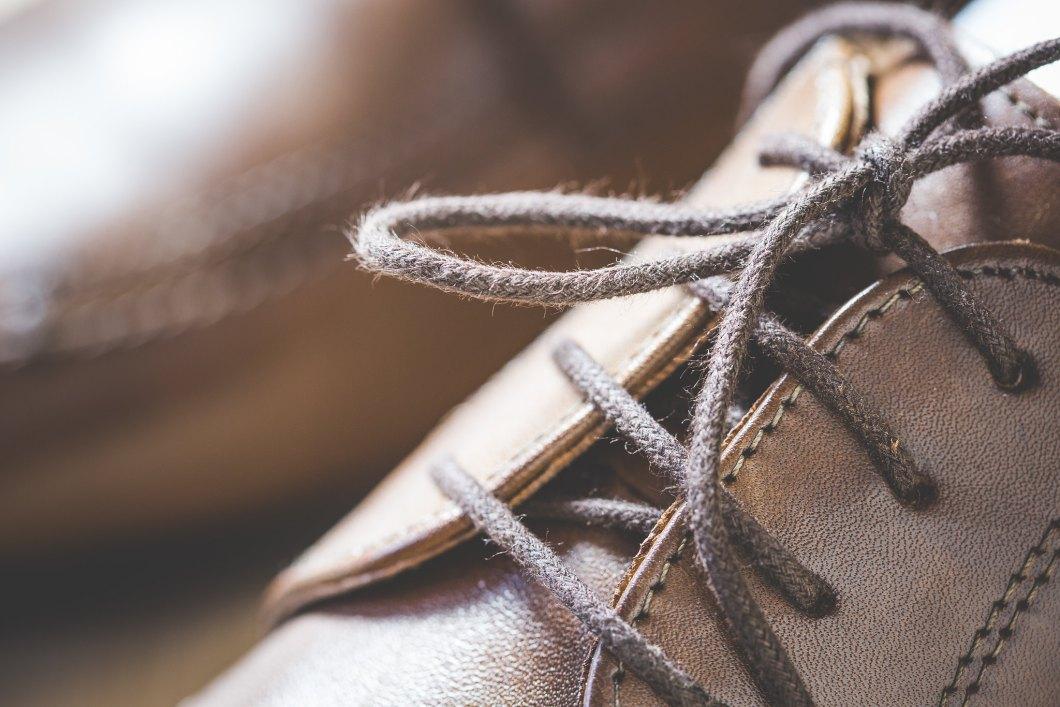 Imagen gratis de los cordones de un zapato