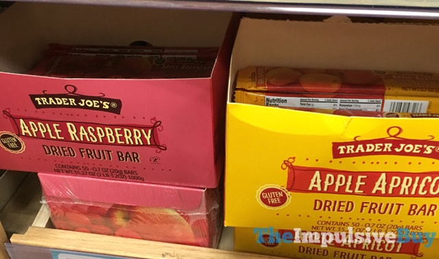 Trader Joe's Apple Raspberry and Apple Apricot Dried Fruit Bars