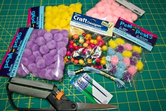 Kid-Made Pom-Pom Necklaces