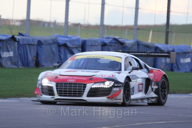 The Audi R8 GT3 of Phil Hanson and Nigel Moore in Endurance Racing during the BRSCC Winter Raceday, Donington, 7th November 2015