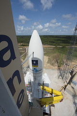Ariane 5 flight VA233 on launch pad
