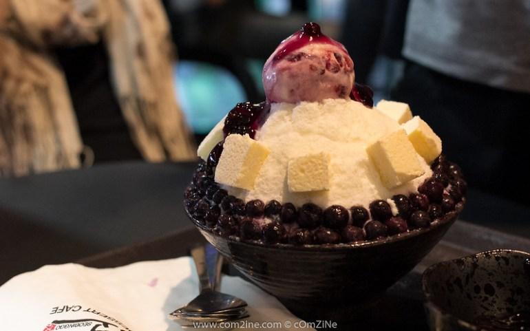 Seobinggo - Blueberry Cheese Bingsu