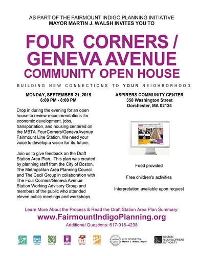 Four Corners-Geneva Ave Community Open House 9.21.15