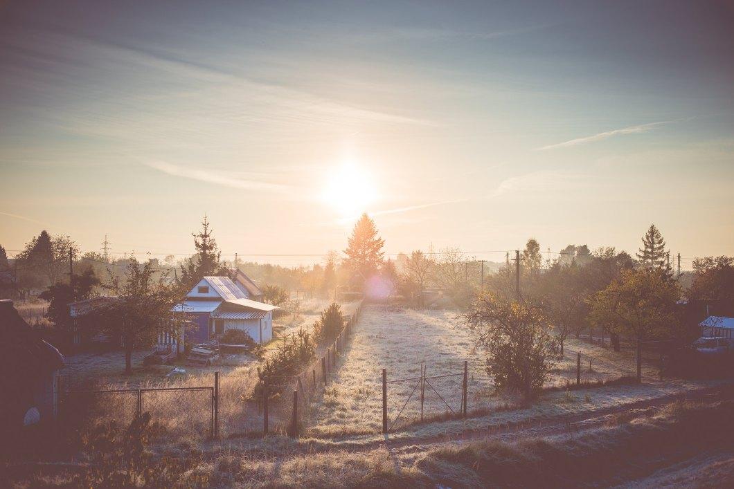 Imagen gratis de un pueblo nevado